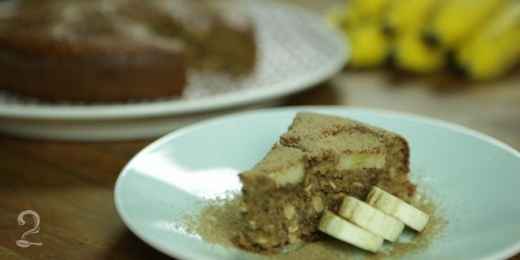 Receita de Bolo de Banana Integral em vídeo | Gourmet a Dois