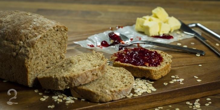 Receita de Como Fazer Pão de Forma 100% Integral - Prático e Rápido em vídeo   Gourmet a Dois