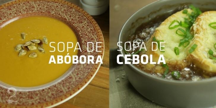 Receita de 2 sopas de práticas e deliciosas para dias frios em vídeo | Gourmet a Dois